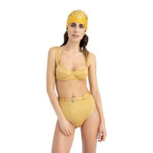 Giosì beachwear Sand costumi balconcino con slip vita alta
