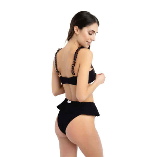 Giosì beachwear Coco goffry nero costumi a fascia shop online