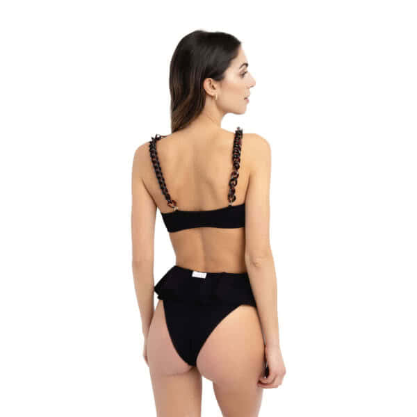 Giosì beachwear Coco goffry nero costumi donna a fascia