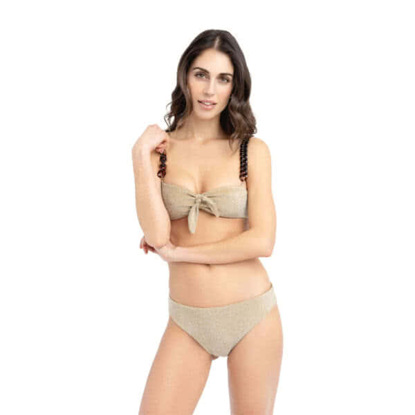 Giosì beachwear Coco bikini glitter oro