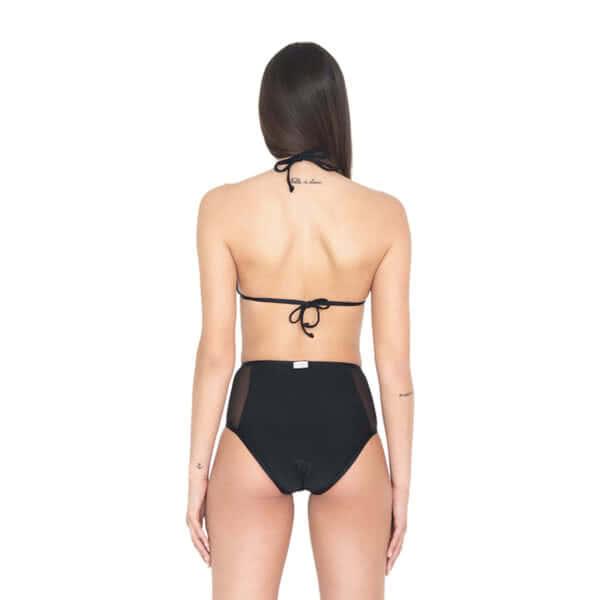 giosì beachwear Chloe bikini triangolo vita alta nero outlet