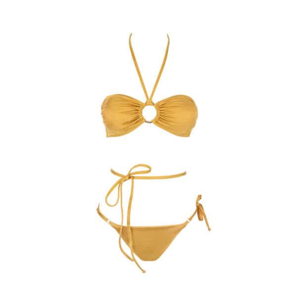 Giosy beachwear ivory oro bikini tendenza 2021