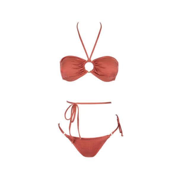 Giosy beachwear ivory terracotta bikini tendenza 2021
