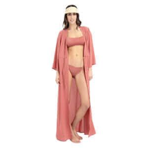 Giosi beachwear luna chiffon terracotta-copricostume