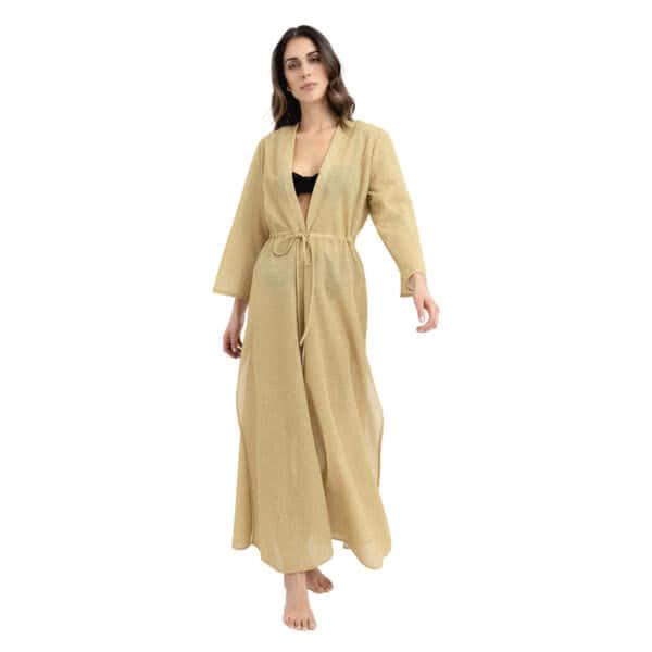 Giosi beachwear luna kimono glitter oro