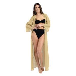 Giosi beachwear luna vestito da mare glitter oro