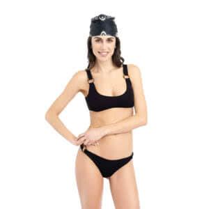 Giosì beachwear matcha goffry nero