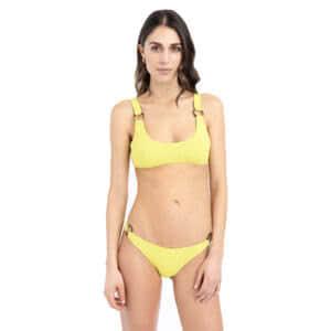 giosì beachwear matcha goffry verde acido
