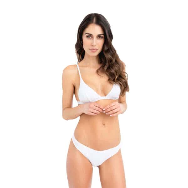 giosì beachwear Moon paillettes bianche costumi da bagno