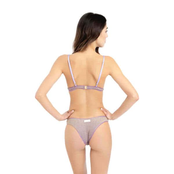giosì beachwear Moon glitter liliac triangolo bikini