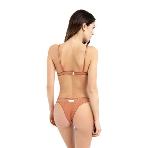 giosì beachwear Moon glitter terracotta bikini lovers