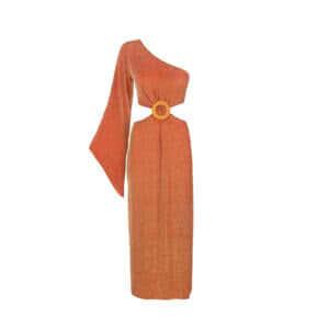 giosì beachwear musa abito da mare alta moda terracotta