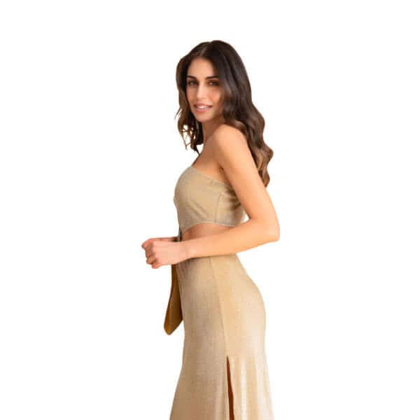 giosì beachwear musa party dress glitter oro