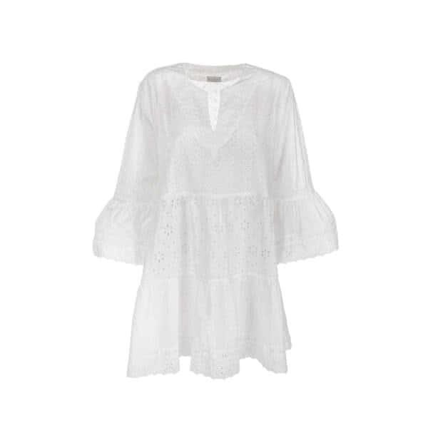 Giosì Beachwear Oceania abito con ricami in sangallo dress capri