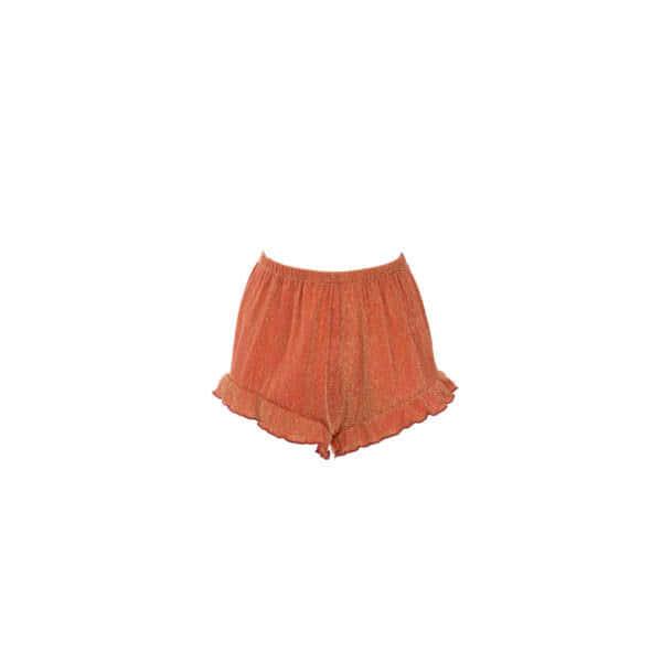 giosì beachwear shorts ruches glitter terracotta estate 2021