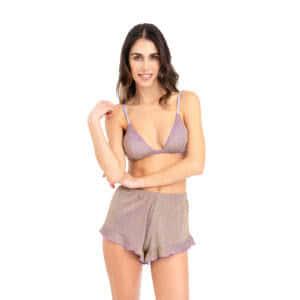 giosì beachwear shorts ruches glitter liliac estate 2021